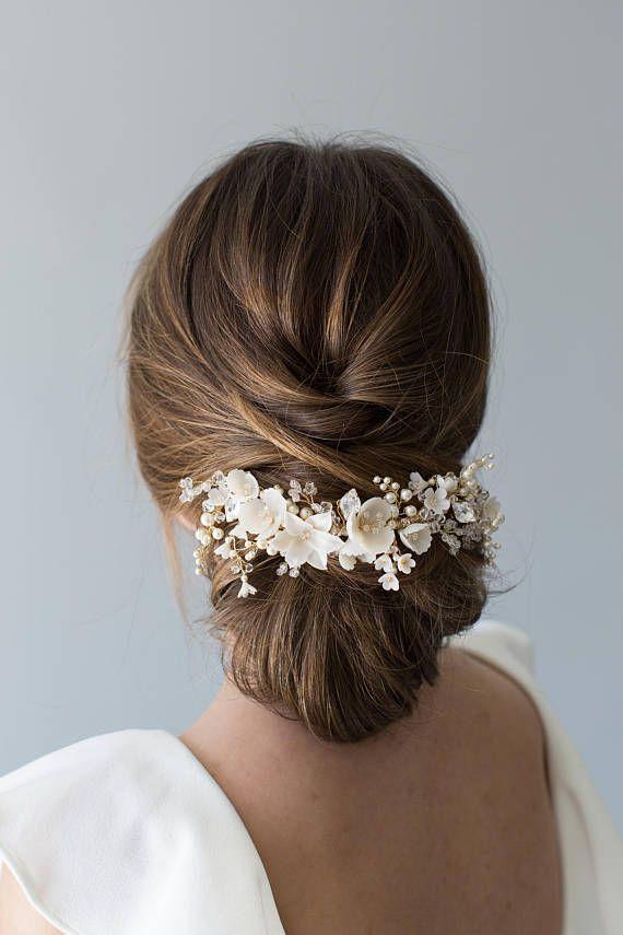 Wedding Headpiece, Bridal Headpiece, Floral Bridal Headpiece, Bridal Hair Vine, Floral Headpiece, Bridal Comb, Flower Crown – VIOLET