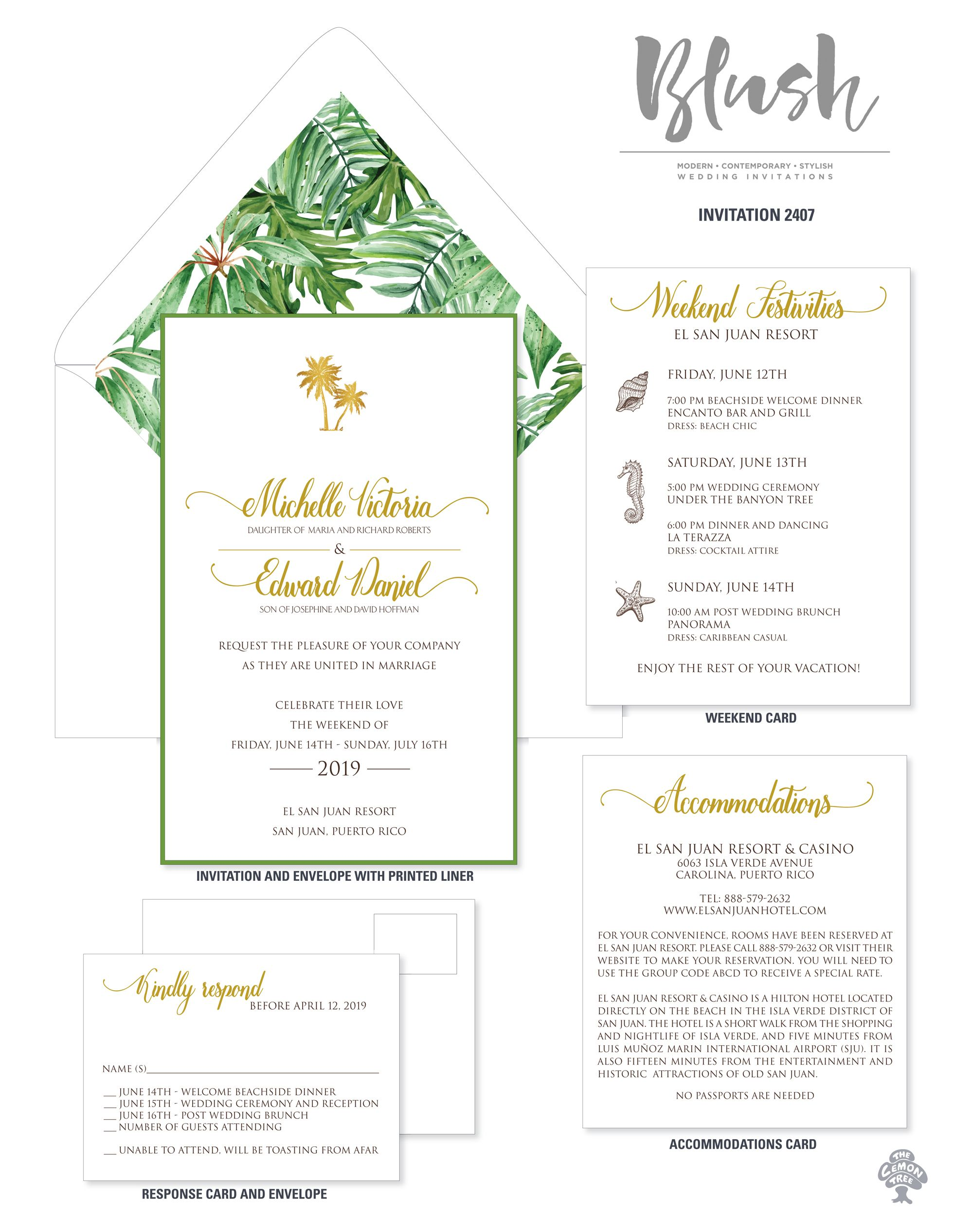 Impress your guests with these tropical invitations. A Tropical ...