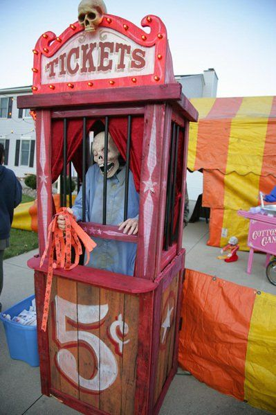 scary ticket booth build in 2018 carnevil 2 pinterest