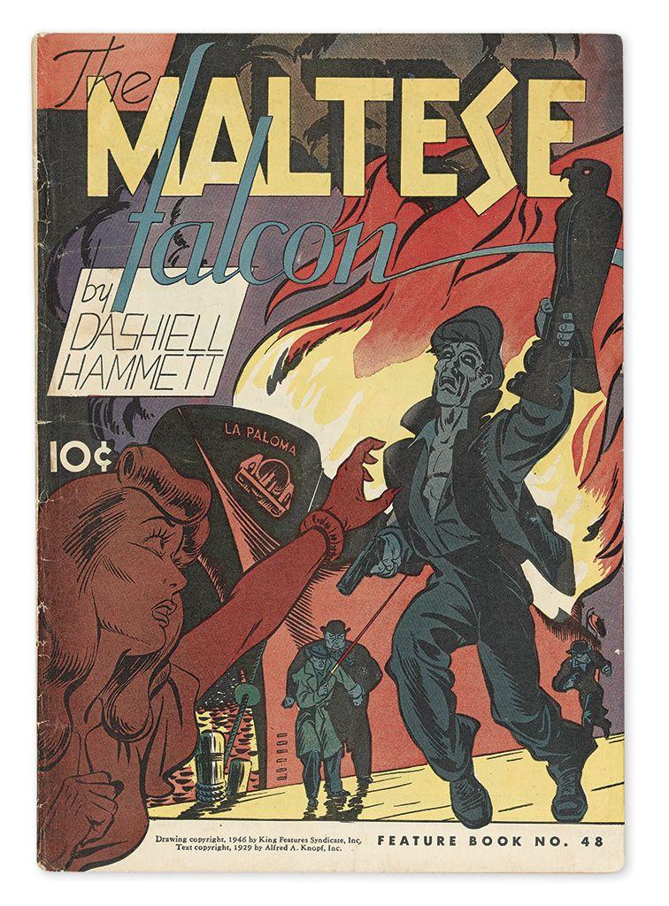 Dashiell Hammett The Maltese Falcon Comic Book Adaptation 1946 The Maltese Falcon Book Golden Age Comics Best Comic Books