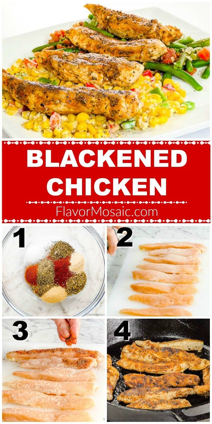Cajun Blackened Chicken - Flavor Mosaic