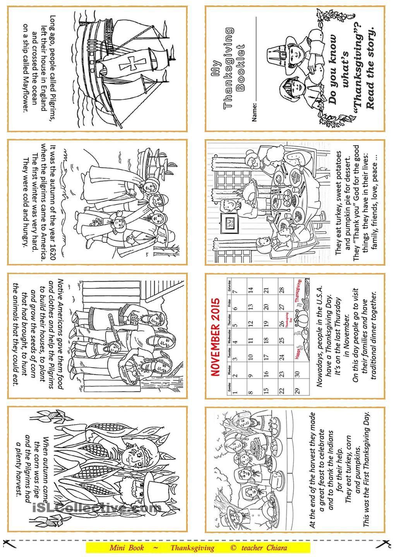 Thanksgiving Booklet | celebrate | Pinterest | Thanksgiving, English ...