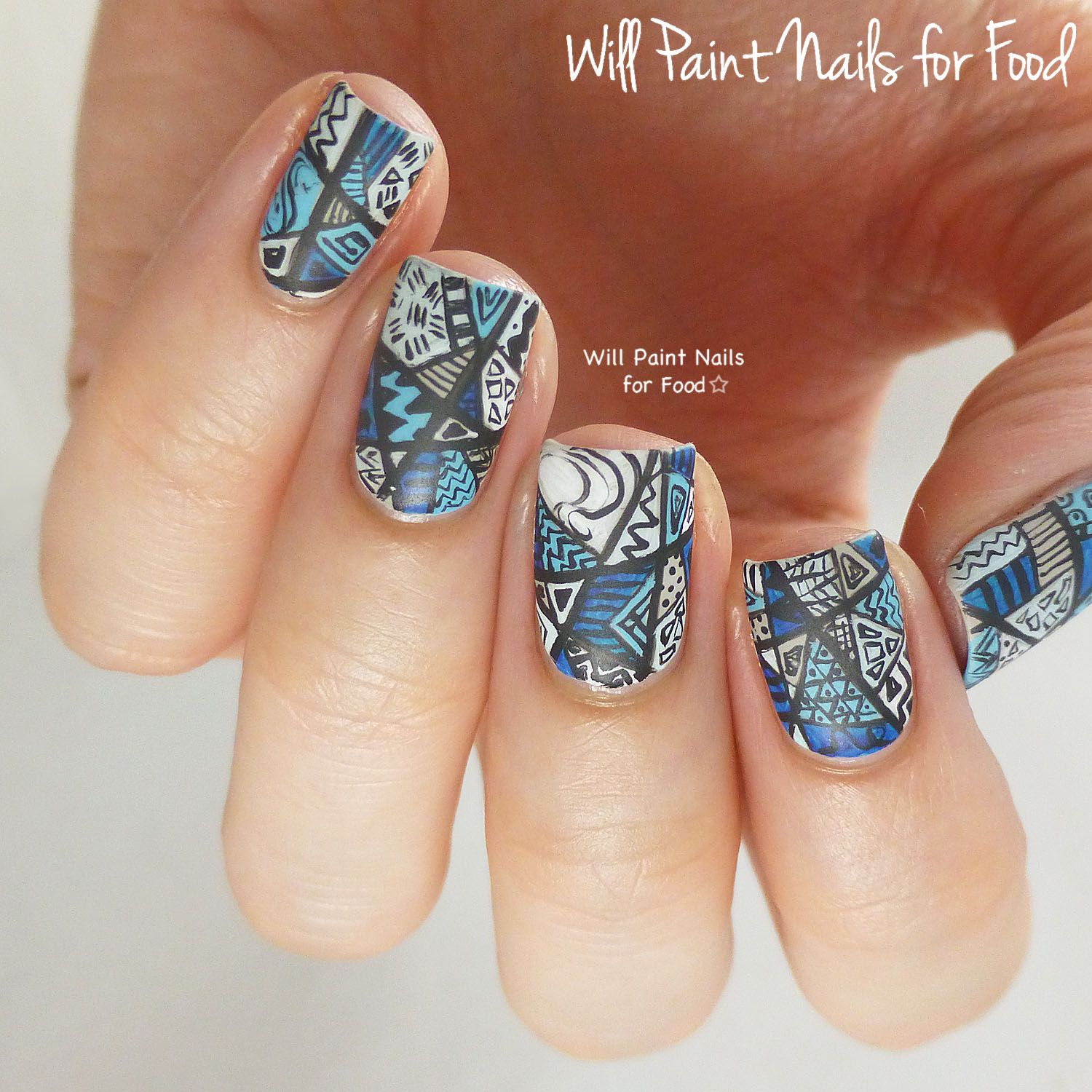 31 Day Nail Art Challenge 2.0: Day Six, Monochromaticby Will Paint ...