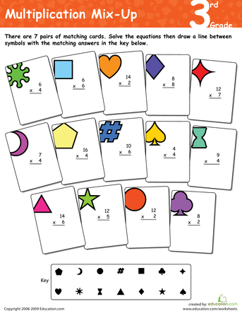 Multiplication Mix-Up: 3rd Grade | Multiplication, Worksheets and ...