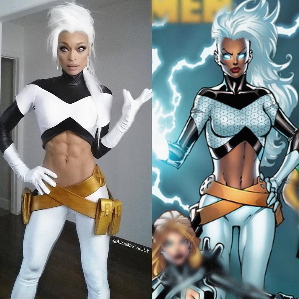Diy X Men Storm Costume Black Cosplayers Storm Cosplay