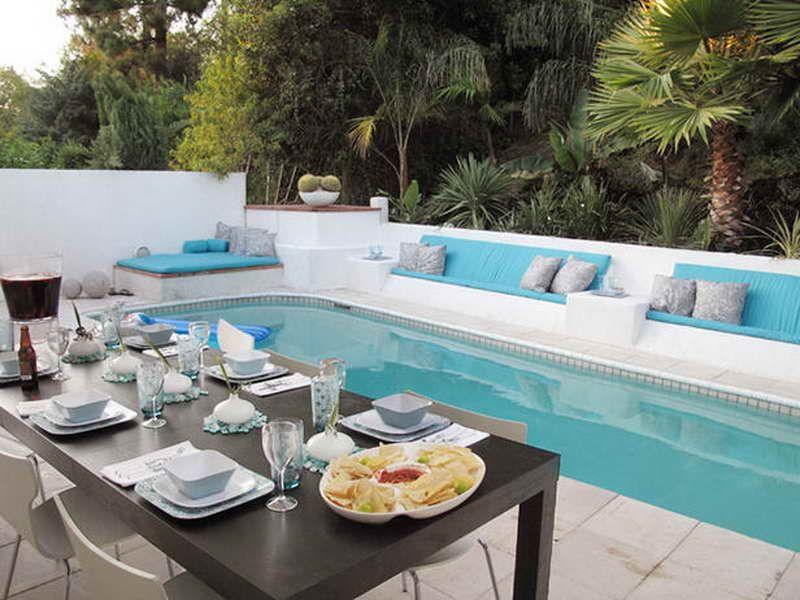 Elegant Lap Pool Ideas Design With Table Chair Bloombety Backyard Pool Designs Backyard Pool Small Backyard Pools