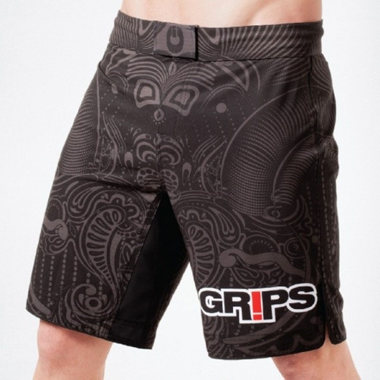Grips Athletics Warriors Instinct Fight Shorts Black Fight Shorts Rashguard Black Long Sleeve Rashguard