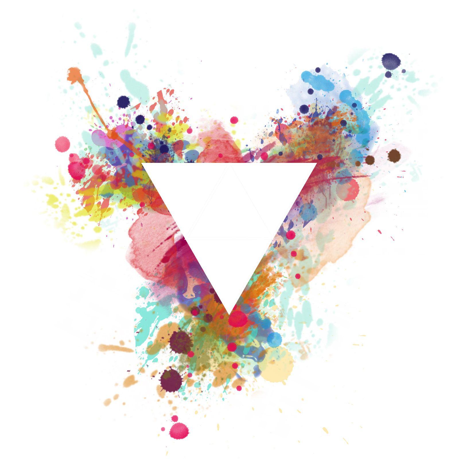 Watercolour Triangle Logo Google Search Watercolor Logo