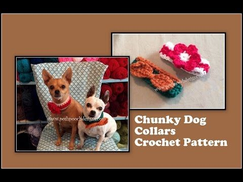 Conversation Hearts Dog Collar Crochet Pattern Youtube 4 Dogs