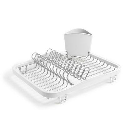 Umbra LLC Sinkin Dish Rack White/Nickel - 330065-670
