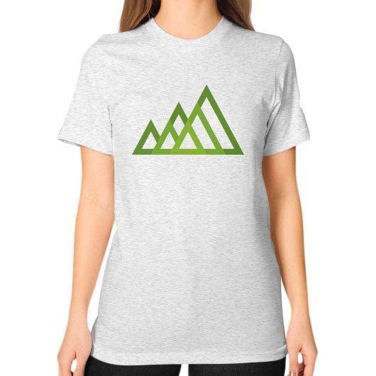 Mountains Unisex T-Shirt (on woman)