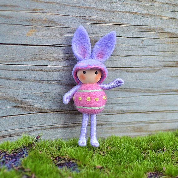 Easter Bunny Lavender Pink by dreamalittle7 on Etsy