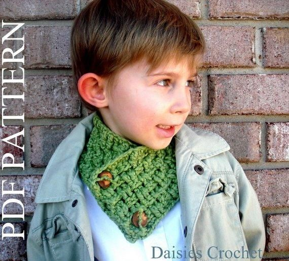 Crochet scarf pattern for kids and adult crochet scarf patterns crearance crochet pattern pdf girl boy teen adult unisex cowl neck warmer scarf with buttons to sell finished items dt1010fo