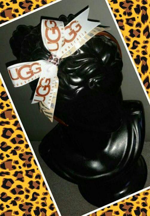 Handmade Ugg hairband by Happybowlucky