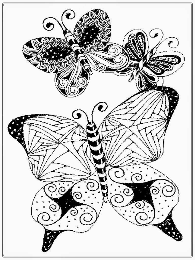 Adult Coloring Pages Butterfly