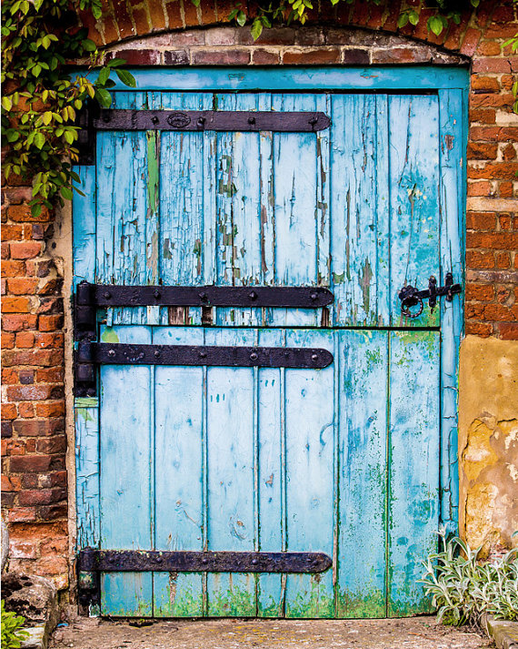 Rustic Wall Decor Country Cottage Distressed Wood Barn Door Photograph Blue Crackled Paint Photographic Print Country Decor Rustic Wall Art Rustic Wall Decor Rustic Barn Door