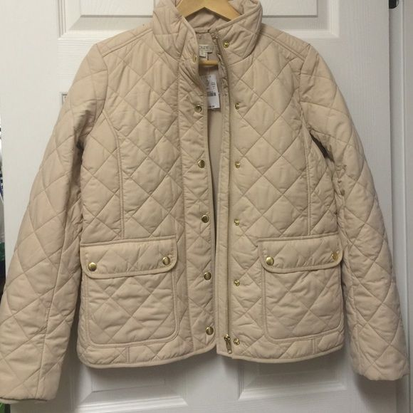 J Crew Quilted Jacket Small Warm Bisque Cream NWT New with tags! J ... : are quilted jackets warm - Adamdwight.com