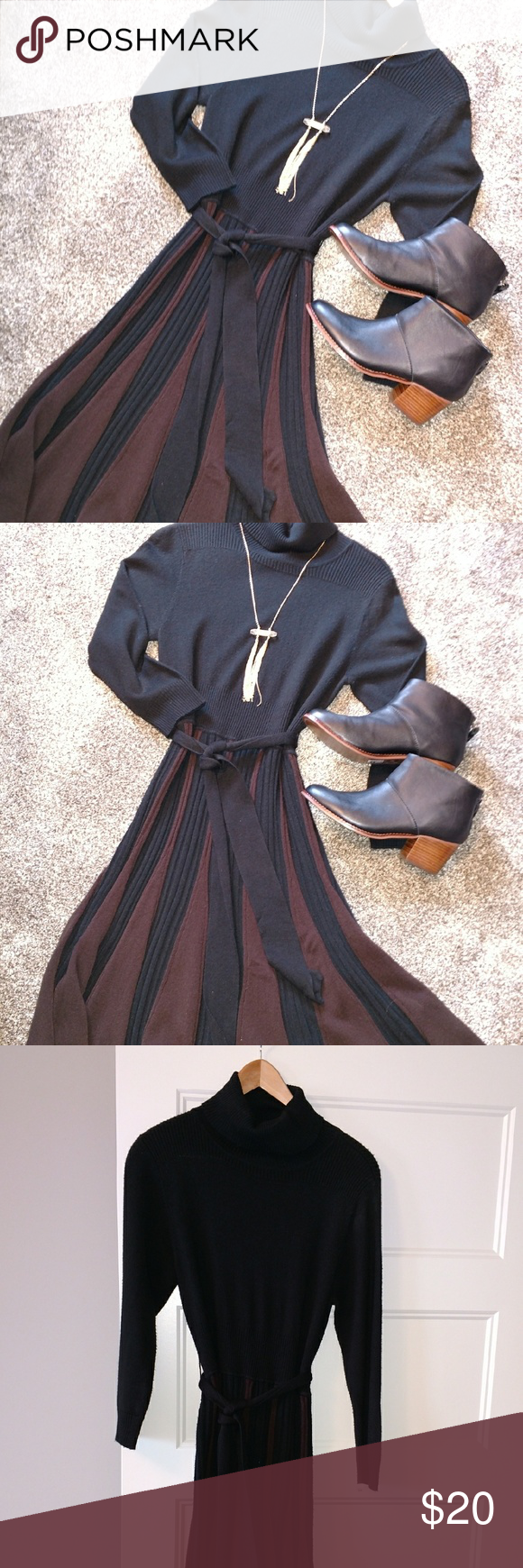 Jessica Howard turtleneck sweater dress Very slimming. Jessica Howard Dresses Long Sleeve