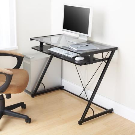 mainstays solar glass top desk black teen room compras rh pinterest es