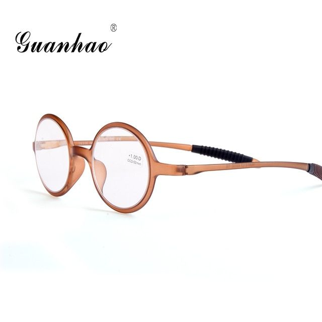 43e6db44ac0 Guanhao Retro Ultralight Round Reading Glasses Man Women Resin Lens Clear  Toughness Frame Spectacles Gafas Presbyopia 1.0 1.5 Review
