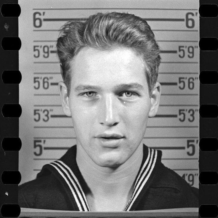 Paul Newman during his service in the US Navy, 1943. Initially, he ...