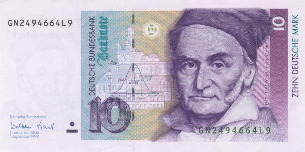 Coat Of Arms Of Carl Friedrich Gauss 1777 1855 Bank Notes Money Collection Carl Friedrich Gauss