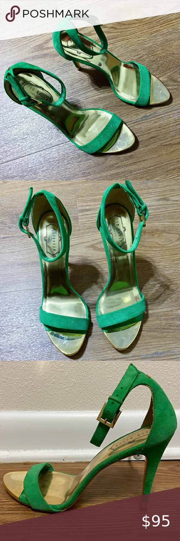 TED BAKER Suede Green Sandal in 2020