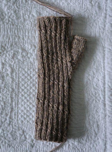 Anleitung Zum Armstulpen Stricken B Knit Fingerless Pinterest