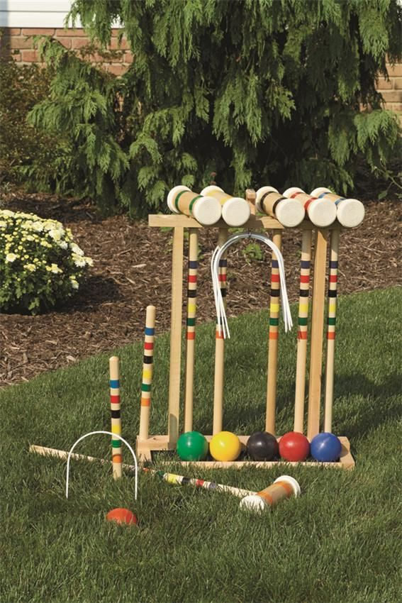 Amish Made Wood Croquet Game Set Old School Flashback Pinterest
