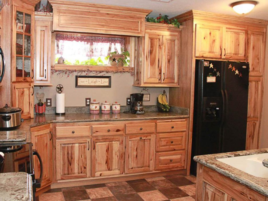 kitchen unfinished calico hickory kitchen cabinets and hickory rh pinterest com