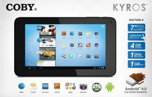 www wirelessandroid com coby kyros 7 inch android 4 0 4 gb internet rh pinterest co uk