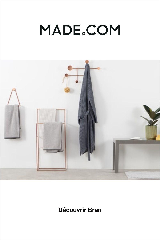 Made Com Accessoires Salle De Bain Cuivre En 2020 Accessoires Salle De Bain Porte Serviette Mural Et Patere Design