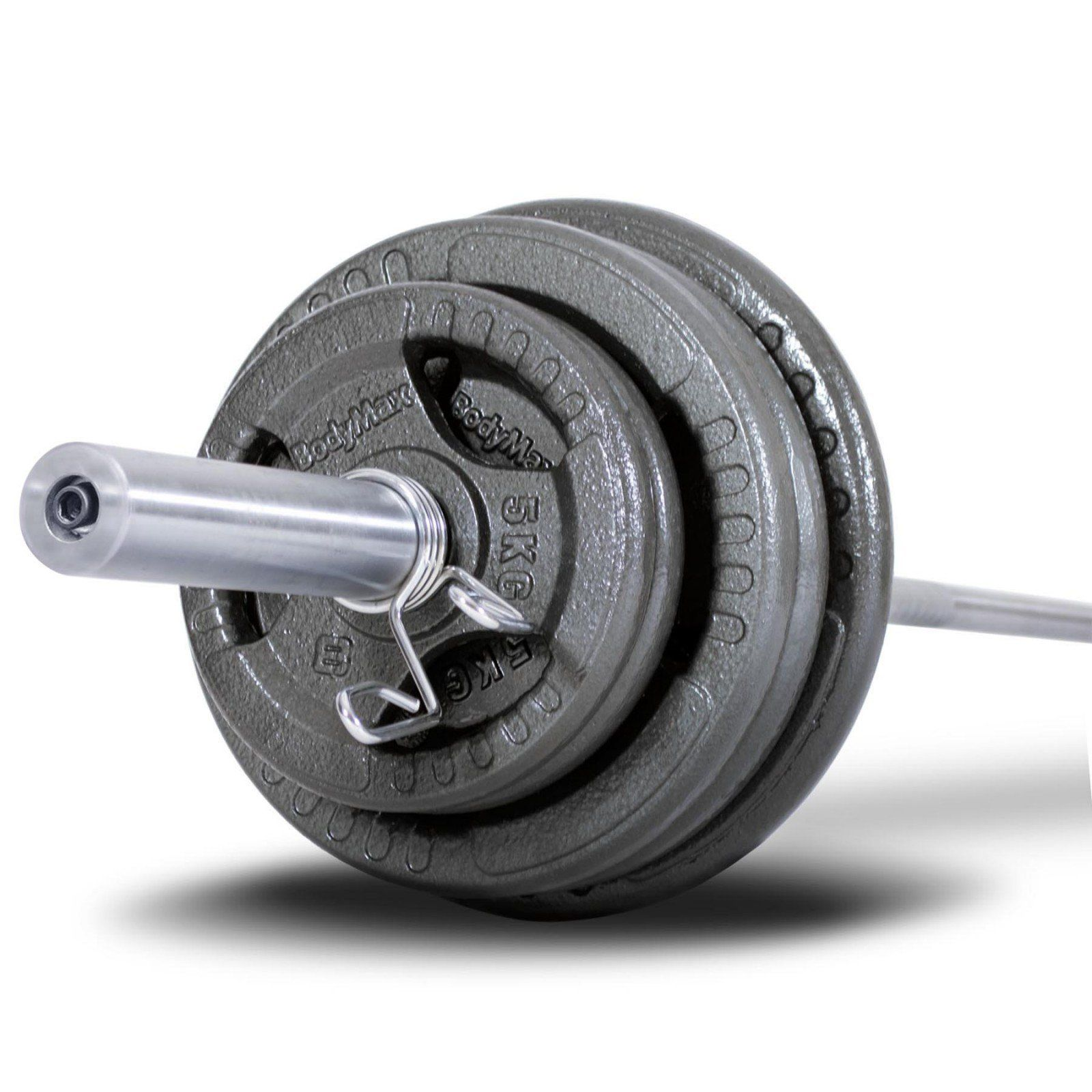 Bodymax 100kg Olympic Cast Tri Grip Barbell Kit With 6ft Bar Weight Kits Weights At Powerhouse Fitness Barbell Workout Barbell Set Barbell