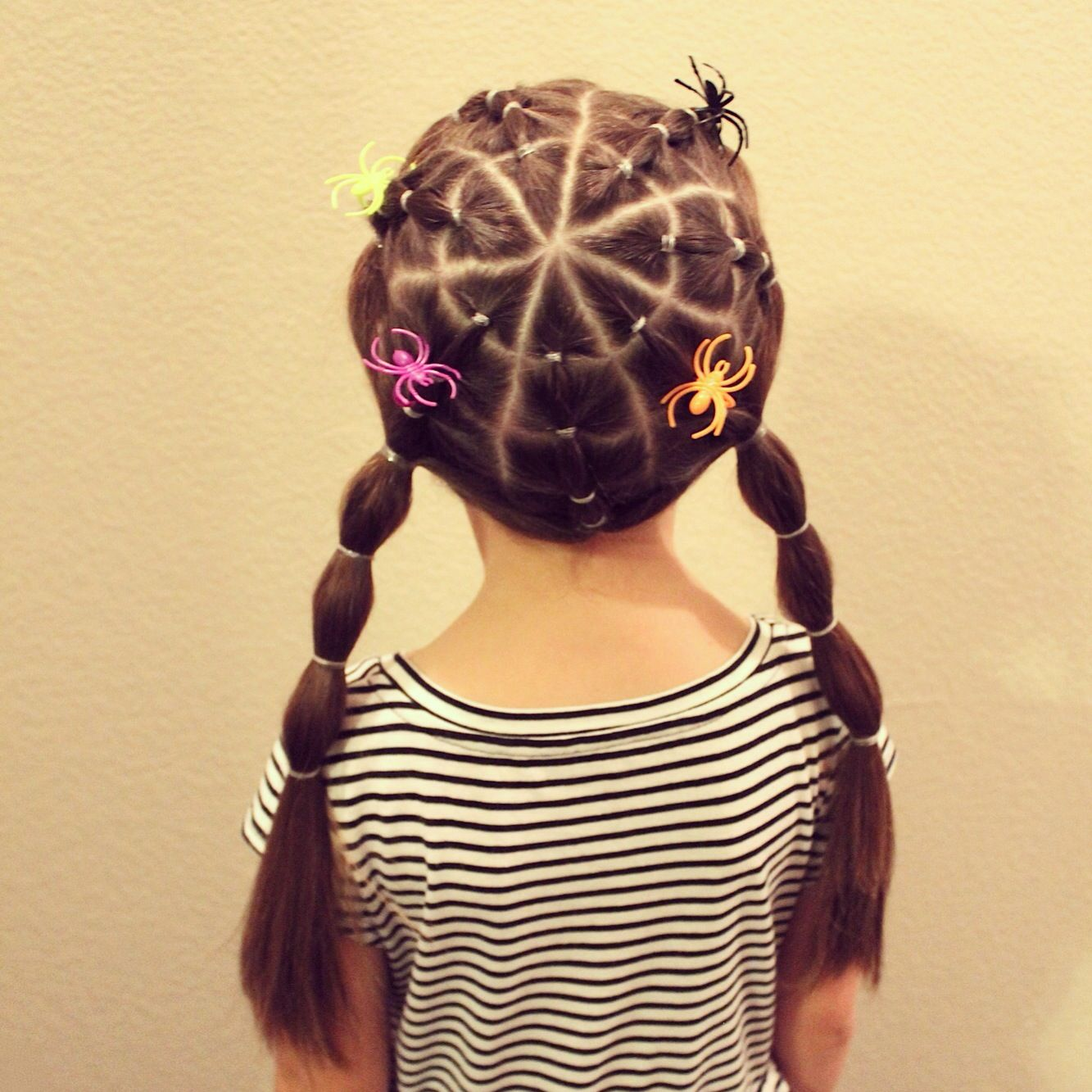 spiderweb hairstyle for crazy hair day! | my kreations