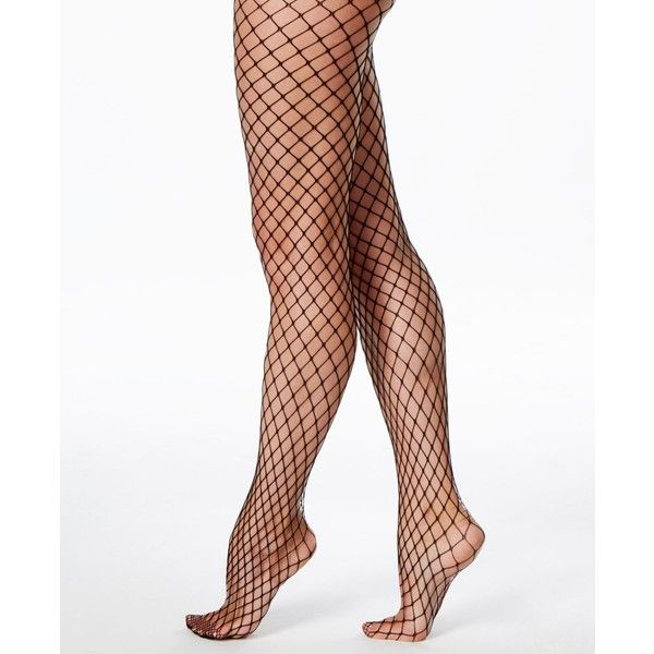 b0eab98c8ef Hue Bold Fishnet Tights ( 15) ❤ liked on Polyvore featuring intimates