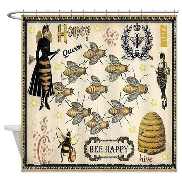 Bees Shower Curtain By Maggiesheartvintageshoppe Cafepress In