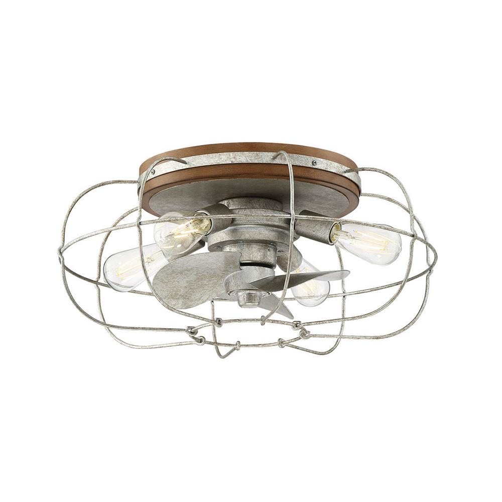 Fifth And Main Lighting Junction 22 In Indoor Galvanized Ceiling Fan With Light And Remote Control Wl 2339g The Home Depot Ceiling Fan With Light Flush Mount Ceiling Fan Fan Light