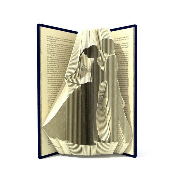 book folding pattern bride and groom 227 folds. Black Bedroom Furniture Sets. Home Design Ideas