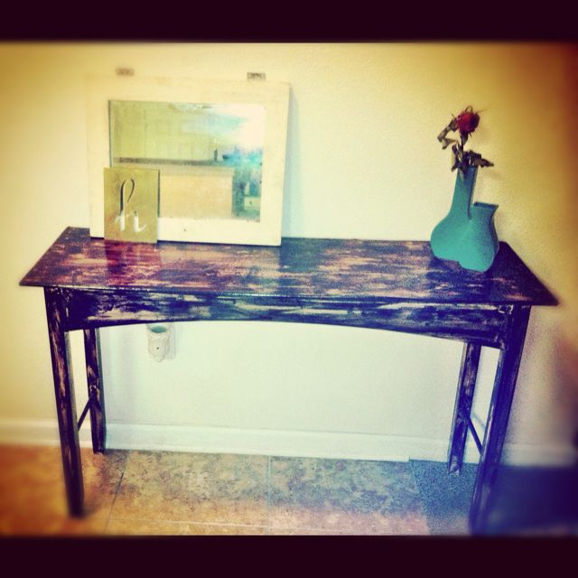 tiger wood entry way console table stained wood the mermaid mommy rh pinterest com