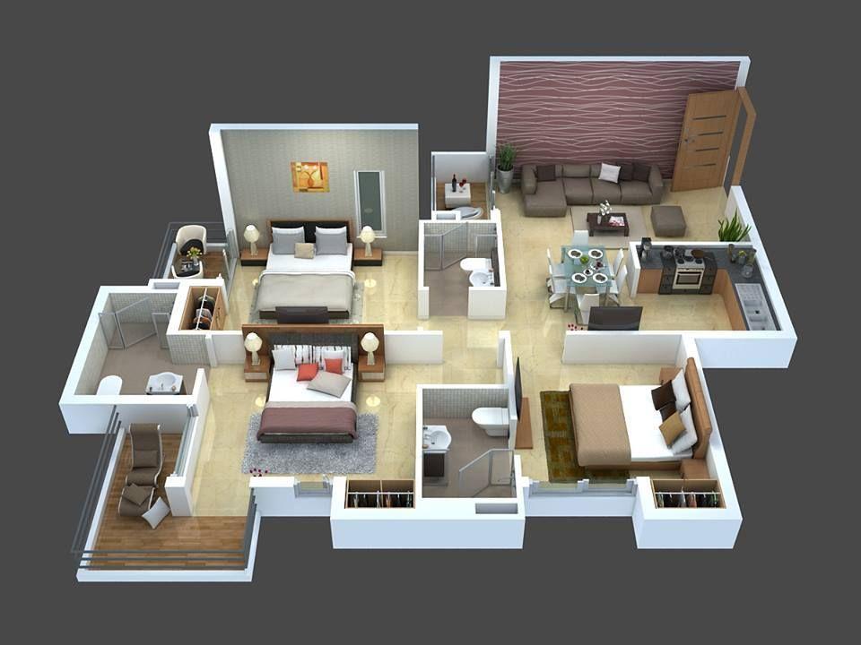 Top 8 3d Cozy Home Plans Home Building Design Home Design Floor Plans Small House Design Plans