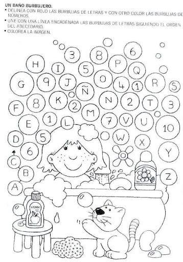 pintar y jugar: actividades para preescolar | letras | Pinterest ...
