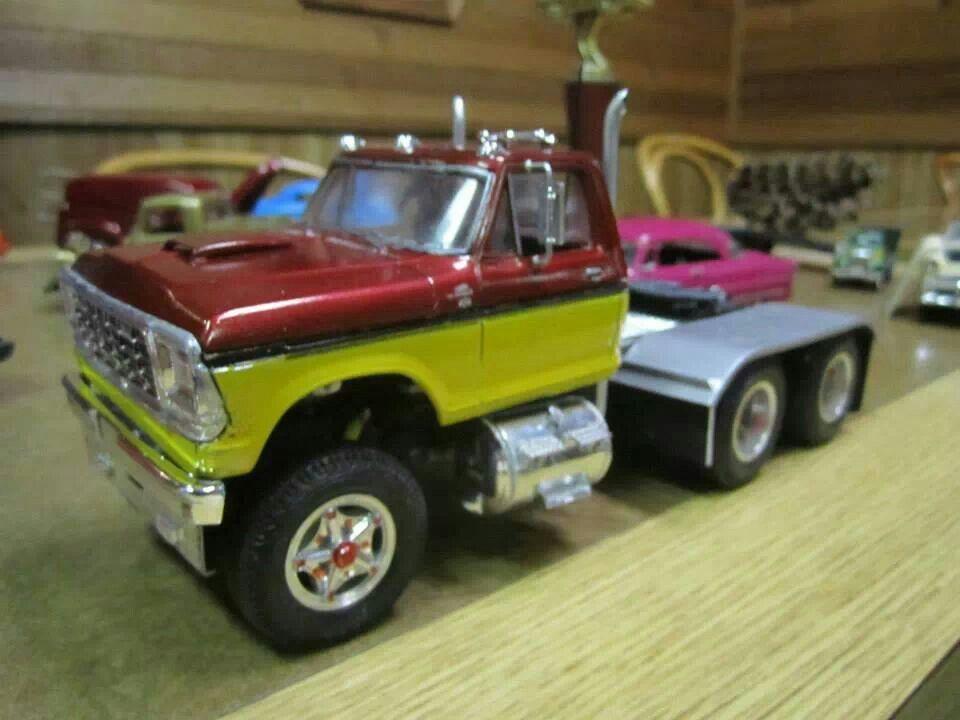 Ford Trucks Semi Pickup Muscle Truck Farm Toys Plastic Model Cars Biggest Kits Diecast