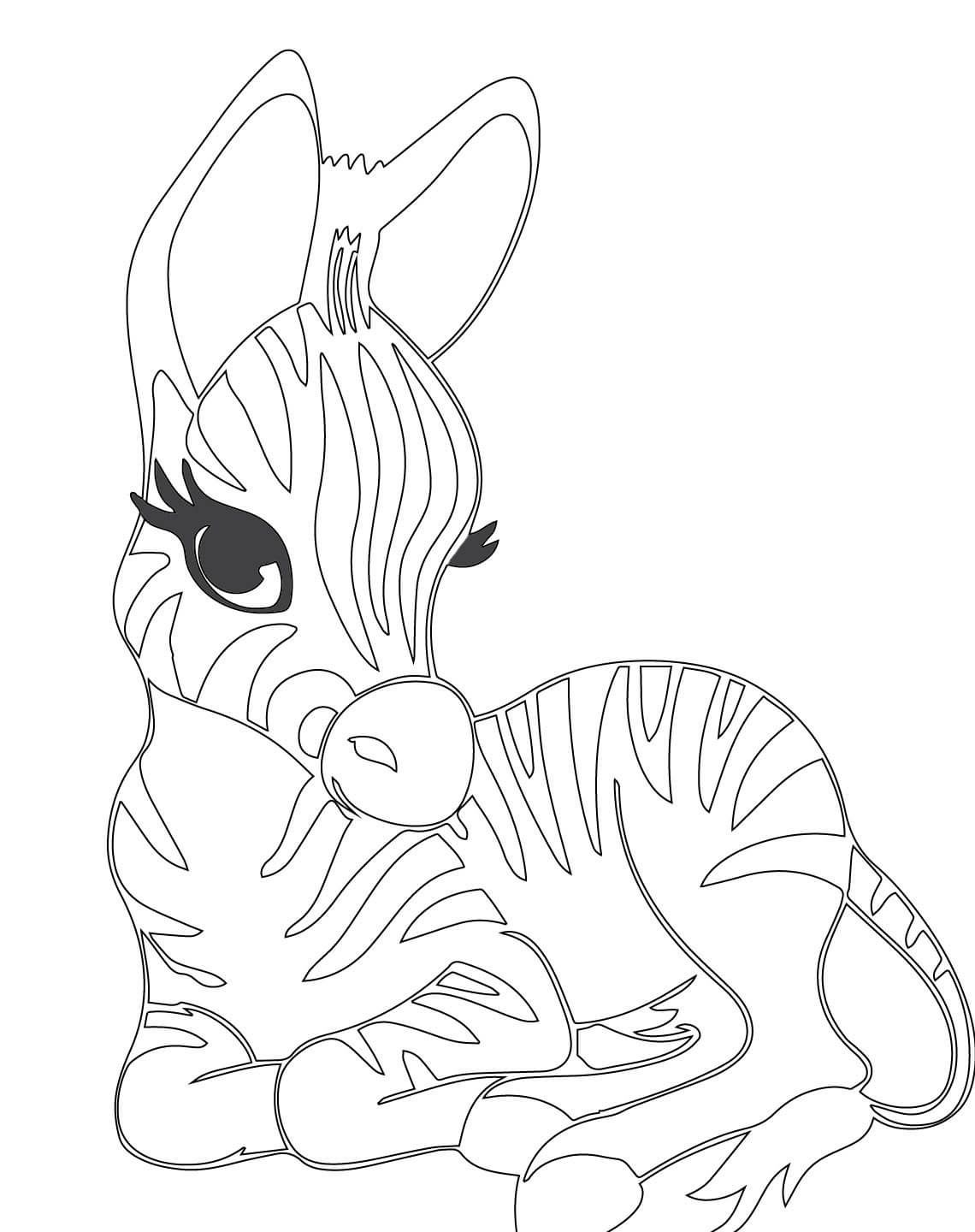 Coloring pages zebra - Coloring Pages Zebra 41