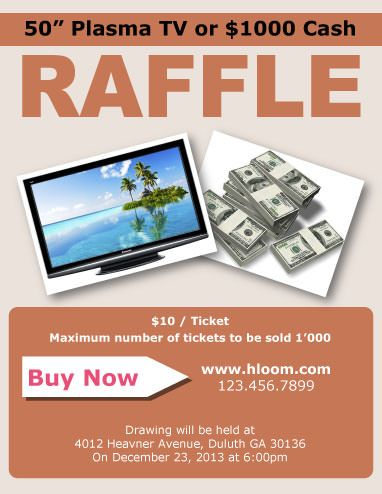 Raffle Flyer Template With  Prizes  Raffle Flyer And Ticket