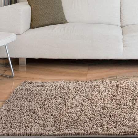 Somerset Home High Pile Shag Rug Carpet - Ivory - 21x36