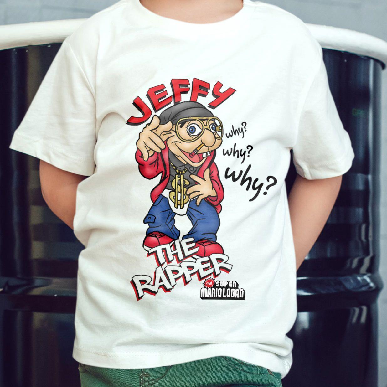 d447d343e4ad Jeffy The Rapper - SML T-Shirt - White, Ash Gray and Natural Jeffy T-shirts  - SML Rapper