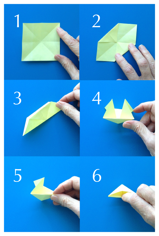Steps To Make An Origami Photo Corner Holder From A 3 Square Post