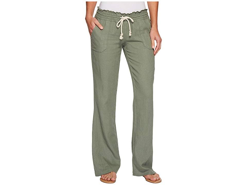 711c0ea96c Roxy Ocean Side Pant (Olive) Women's Casual Pants. Enjoy the cool ...