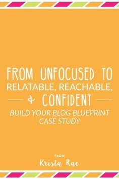 Feeling unfocused and like your blog isn't working the way it should? See how one student quickly became relatable, reachable, and confident in her online presence in this Build Your Blog Blueprint case study!