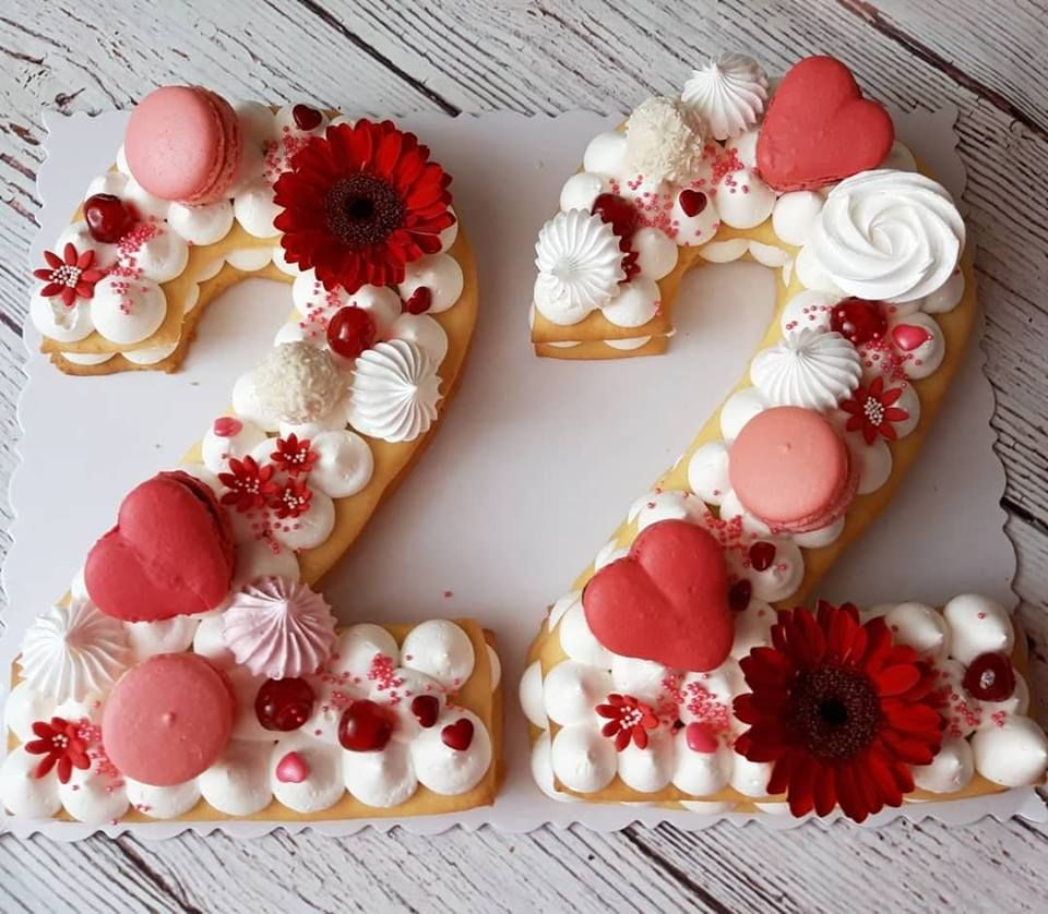 Birthday Cake Number Cake Tart Cake Sweet22 22nd Birthday Cakes Number Birthday Cakes Number Cakes